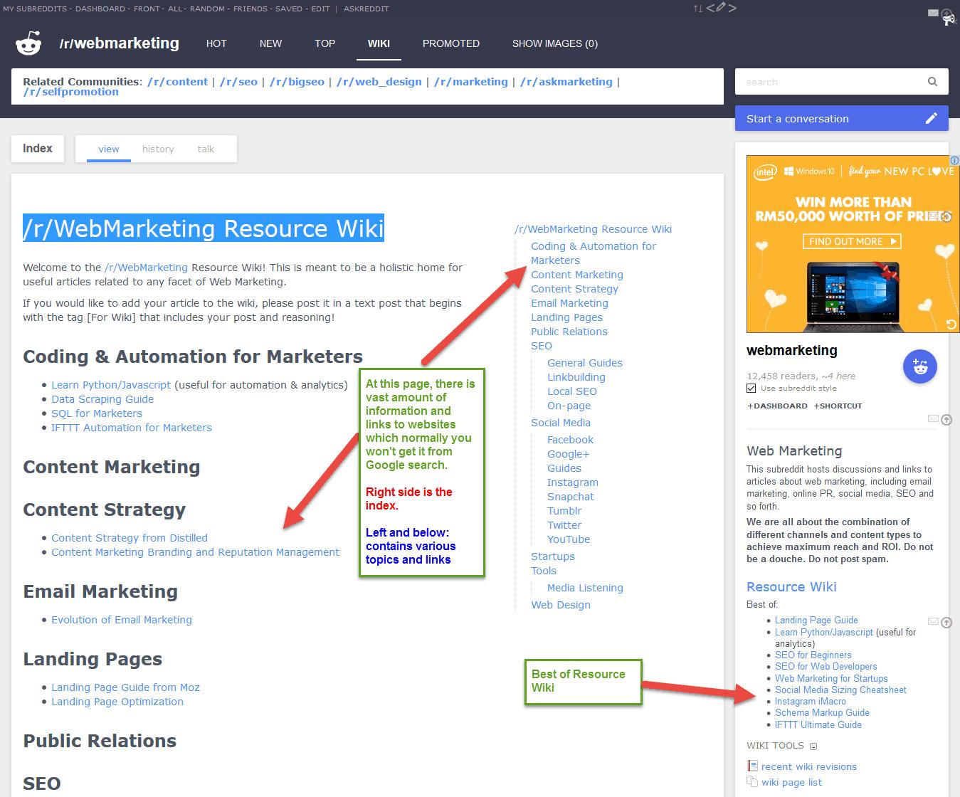 Resource wiki for /r/webmarketing