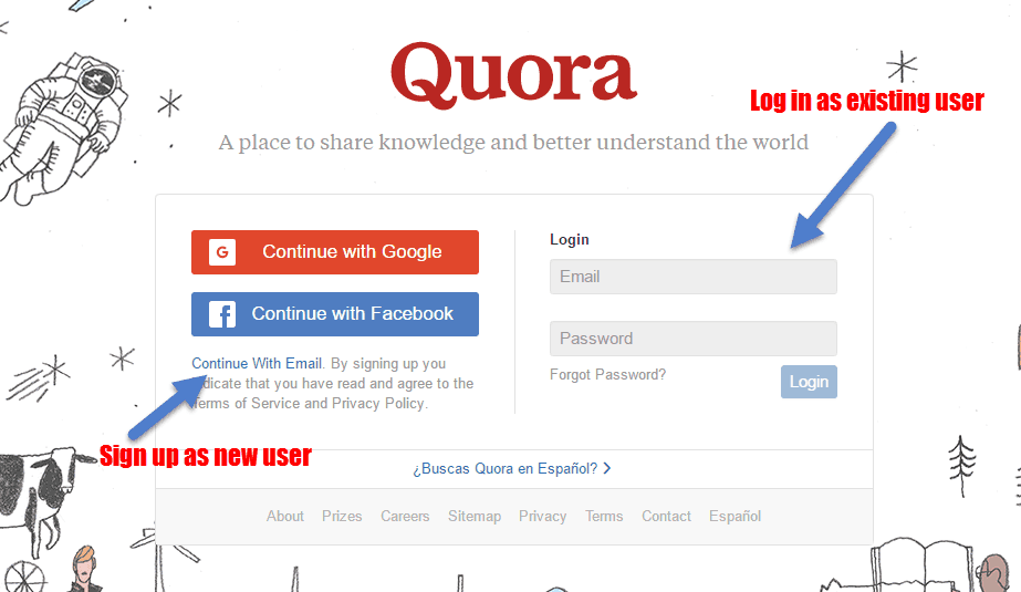 Quora log in