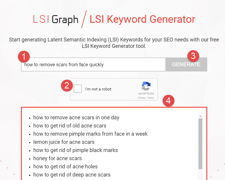 search using LSI graph
