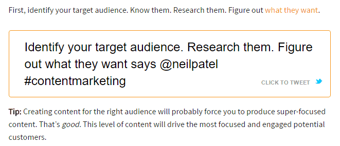 what Neil Patel said in Content Marketing Institute